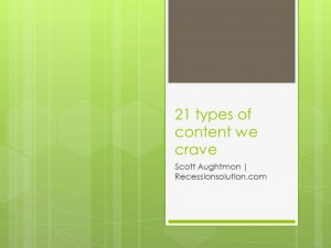 "Sorry! I Posted The Wrong Info Here. But My ""21 Types Of Content We Crave"" Webinar RECORDING Is Now Available For Purchase"