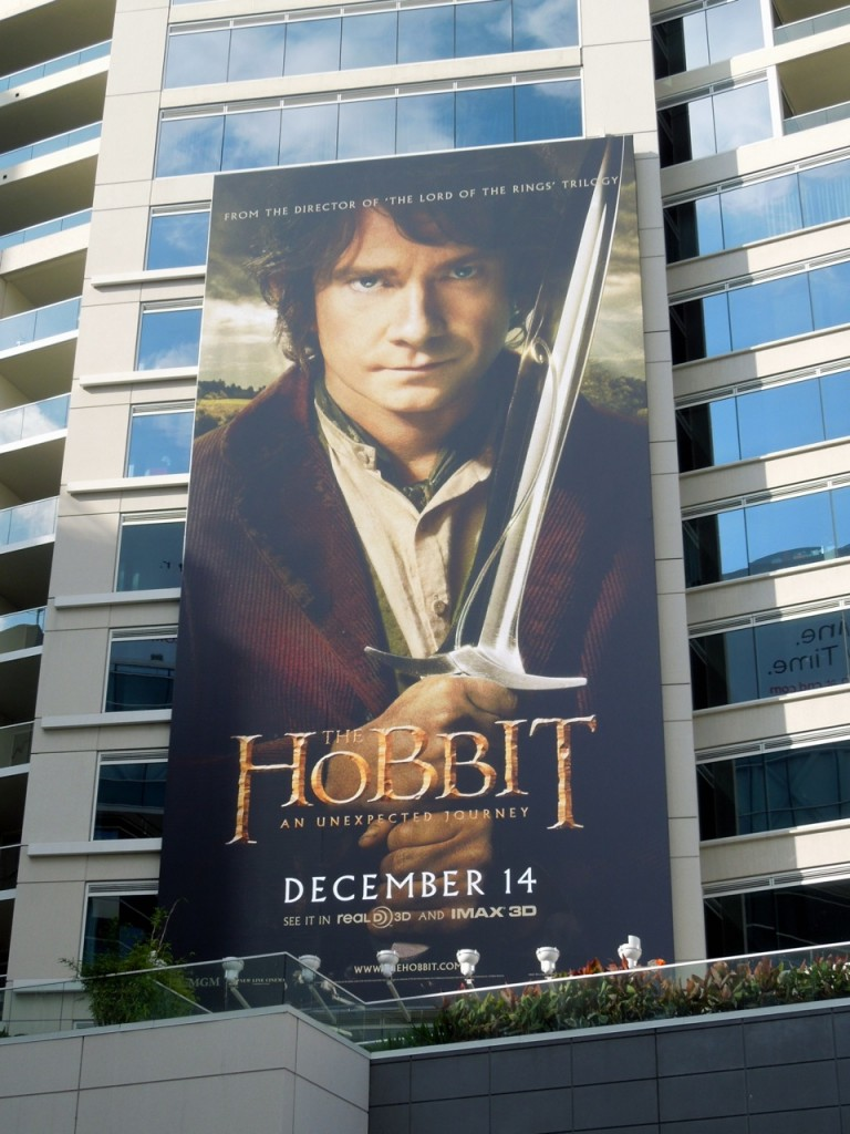 the hobbit billboard advertisement