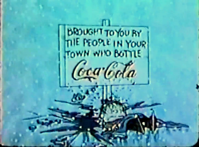 coca-cola ad in charlie brown christmas