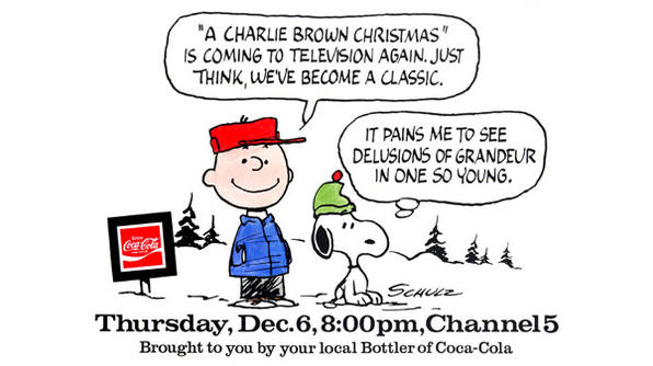 charlie brown christmas special, coca-cola,  content marketing