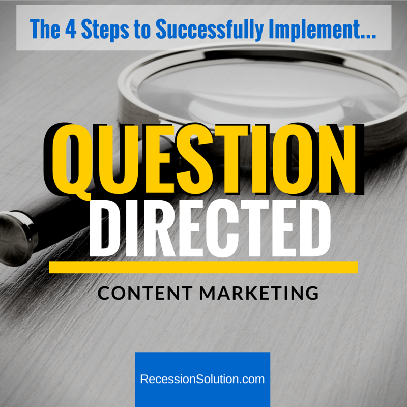The 4 Steps to Successfully-Implement-Question Oriented Content