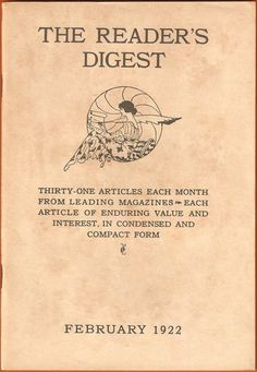 reader's digest first issue